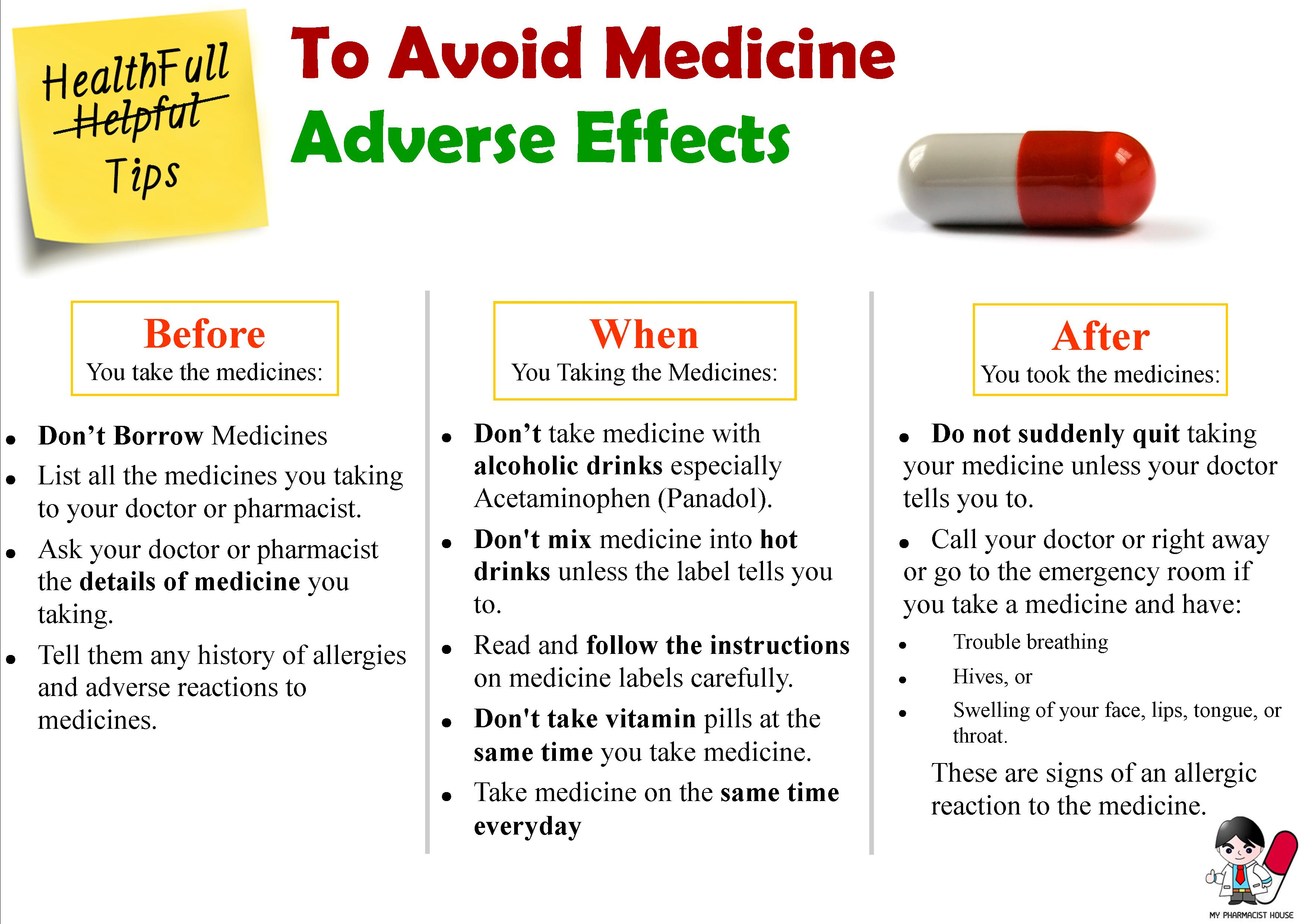 There are many side effects which are unnecessary for medicines, some
